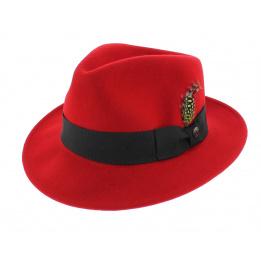 Chapeau Fedora Rouge Pachuco - Jaxon