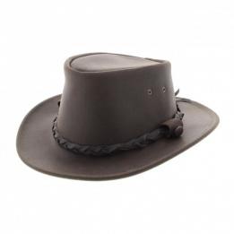 Chapeau cuir australien Highlander