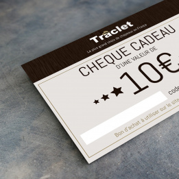Chèque cadeau 10€ Traclet