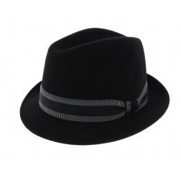 Chapeau trilby Jazzy Feutre laine noir - Aussie Apparel