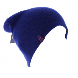 Bonnet long officiel de la FFF acrylique Bleu