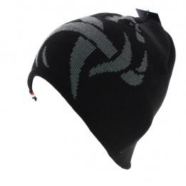 Bonnet court officiel de la FFF noir et Coq gris acrylique