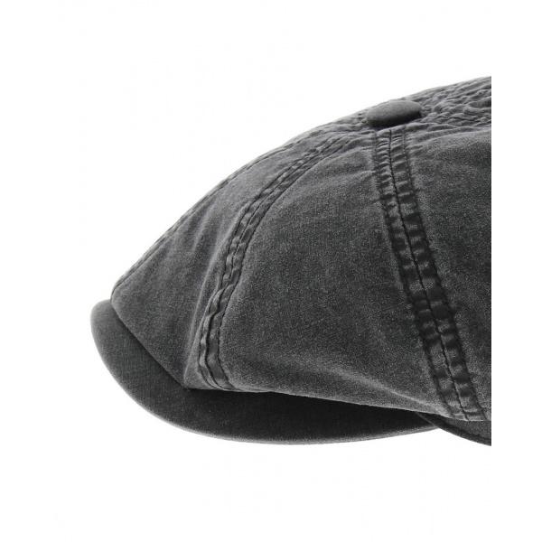 Casquette Hatteras coton biologique noir Stetson