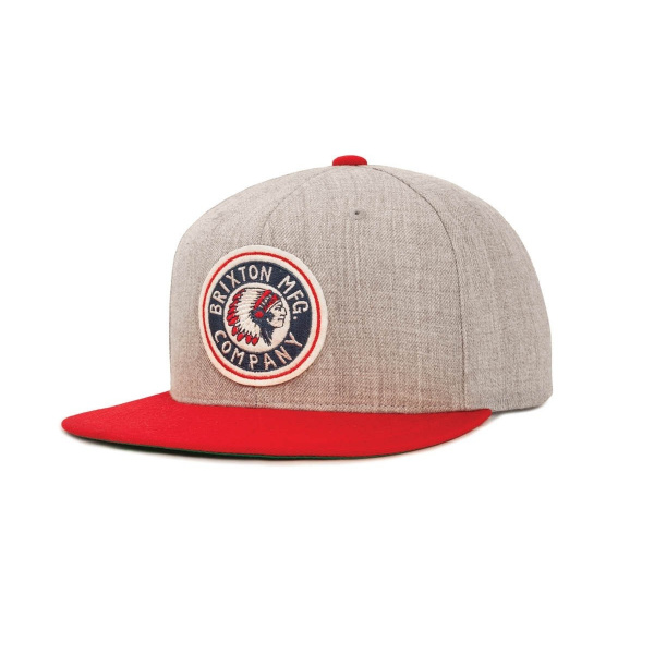 Casquette Rival snapback Light Heather Grey/Red