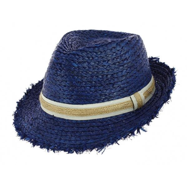 Chapeau Trilby Raffia Parsley Bleu-Roi - Barts