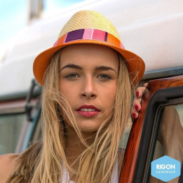 Chapeau Trilby Bicolore Jelly Bean Fibres Naturelles - Rigon Headwear