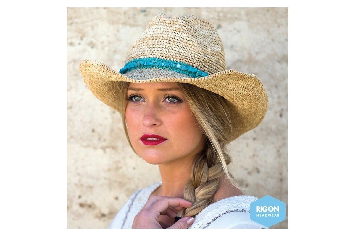 chapeau de cowboy castaway paille raffia naturel rigon headwear chapeau traclet. Black Bedroom Furniture Sets. Home Design Ideas