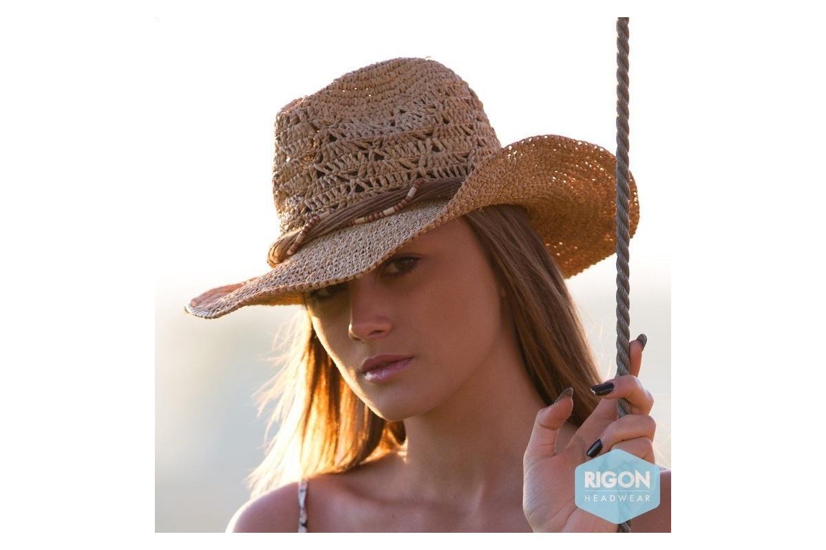 chapeau de cowboy marjo paille raffia rigon headwear. Black Bedroom Furniture Sets. Home Design Ideas