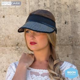 Visière Noire Fibres Naturelles - Rigon Headwear