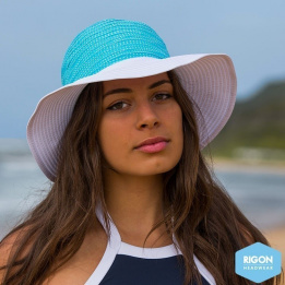 Capeline Endless Summer Polyster Bicolore Turquoise - Rigon Headwear