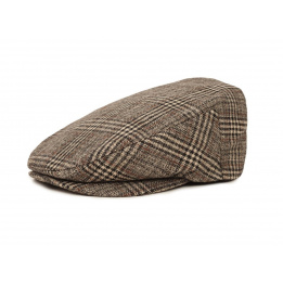 Casquette plate Barrel Brown Cream - Brixton