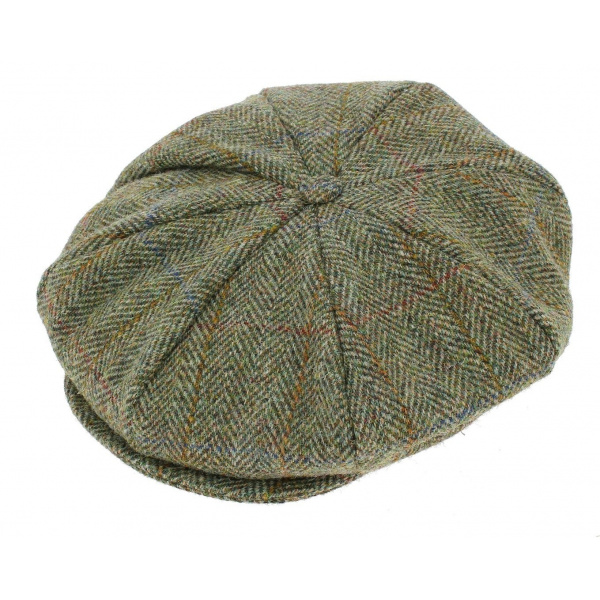 Casquette Irlandaise Moher Laine Vierge Vert Chiné - Hanna Hats