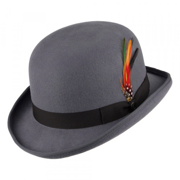 Chapeau melon Gris  English Derby - Jaxon