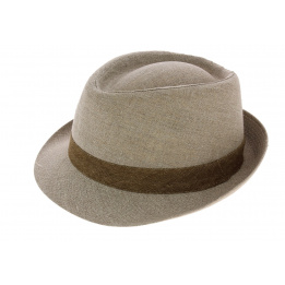 Chapeau Trilby Monfortino Lin Beige - Traclet