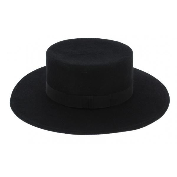 Chapeau Séville Feutre Laine Noir - Traclet