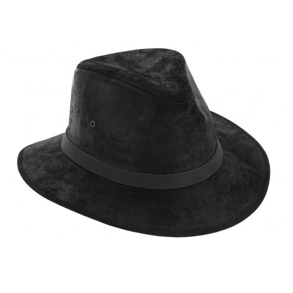 Chapeau Traveller Flinder Cuir Noir - Traclet