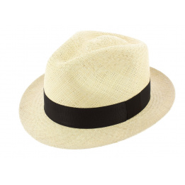 Chapeau Trilby Panama Naturel Coiba - Traclet