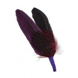 Garniture de chapeau - Plume Violet-noir