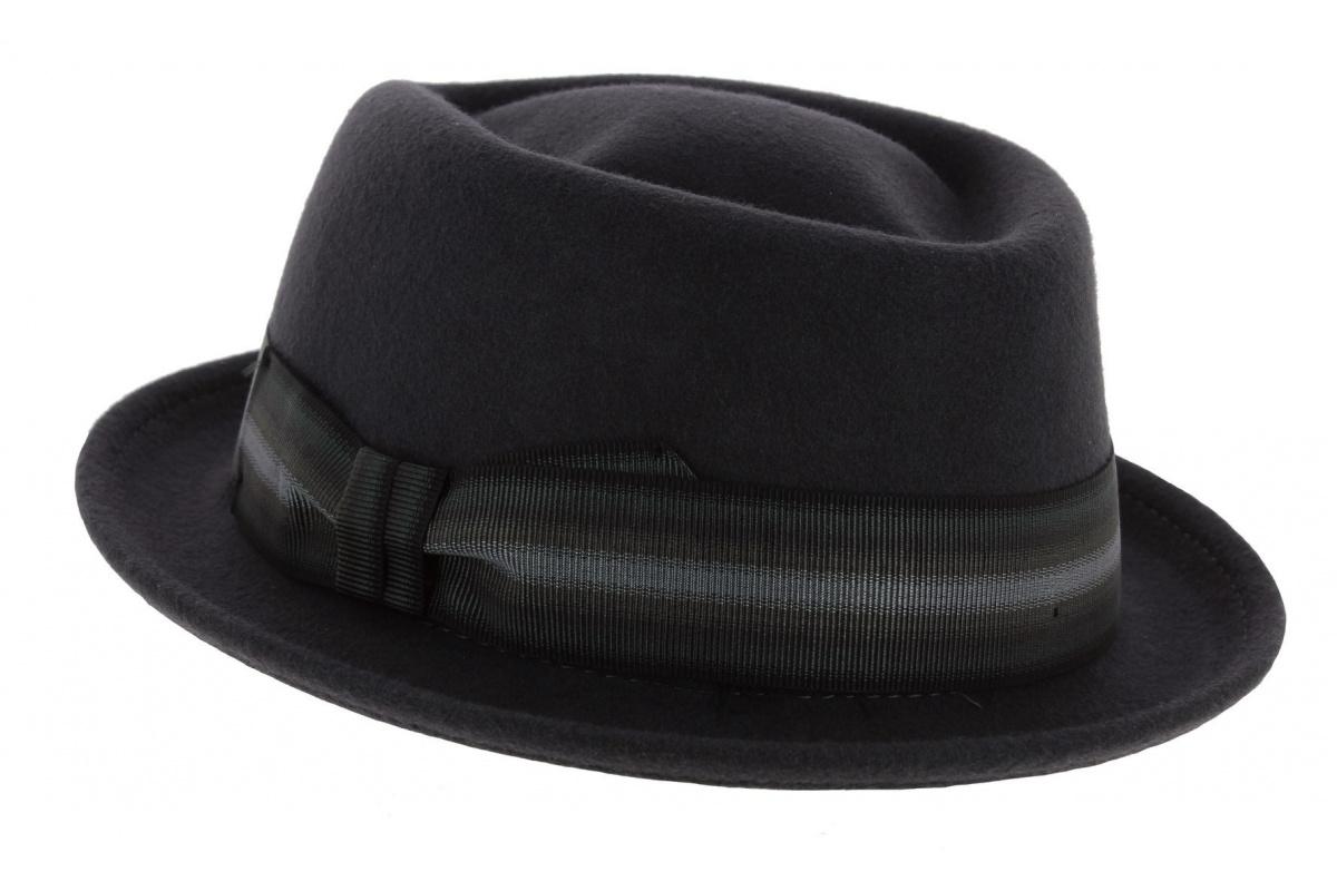 chapeau pork pie rocco grigio chapeau traclet. Black Bedroom Furniture Sets. Home Design Ideas