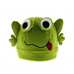 Bonnet rigolo grenouille verte enfant