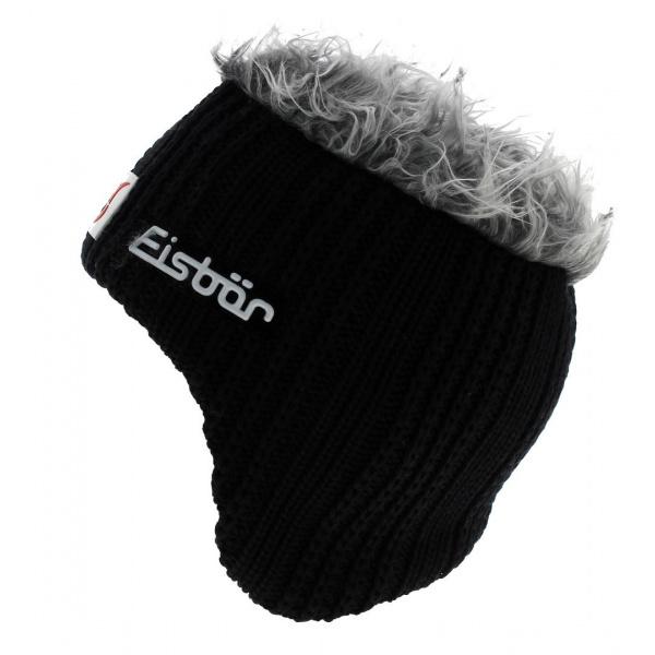 Bonnet Cache-Oreilles Laine Noir Gisbert - Eisbär