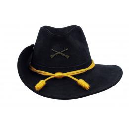 Chapeau confédéré officier bleu marine
