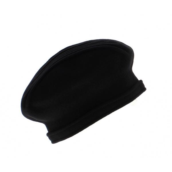 beret berthe laulhre laine femme traclet marron noir. Black Bedroom Furniture Sets. Home Design Ideas