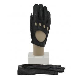 Gants de Conduite Cuir Pécari Noir - Roeckl