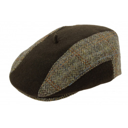 Casquette Plate Harry Tweed Marron - Laulhère