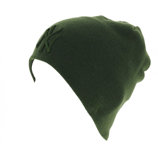 Bonnet Mixte Skull Acrylique Vert - New Era