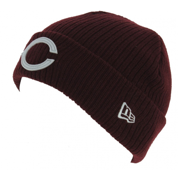 Bonnet Fisherman Chic Acrylique Bordeaux - New Era