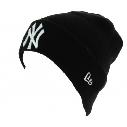 Bonnet Mixte Essential Cuff Acrylique Noir - New Era