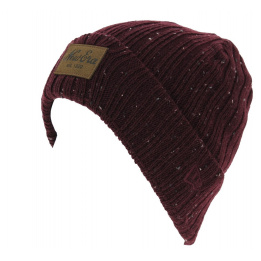 Bonnet Mixte Flecked Suede Cuff Bordeaux - New Era
