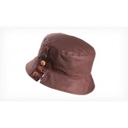 Chapeau de pluie toile cirée Olivia  Marron