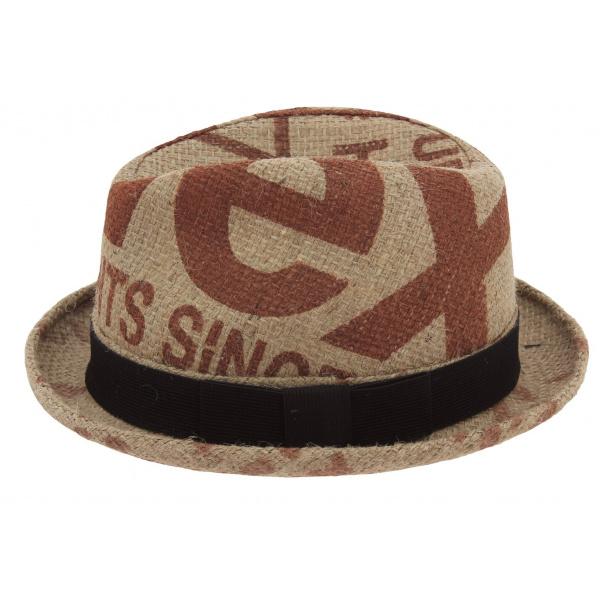 chapeau player ol 233 toile de jute beige rehats chapeau traclet