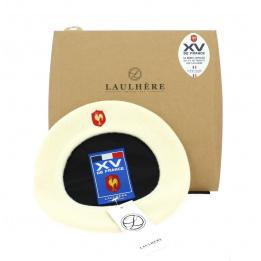 Béret blanc officiel XV de France Coq brodé - Laulhère
