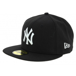 Casquette Fitted Basics Yankees NY Laine Noir - New Era