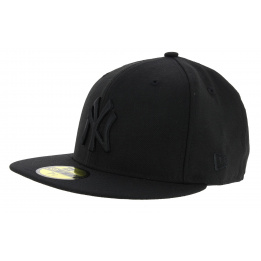 Casquette Snapback Black on Black NY Yankees Noir - New Era