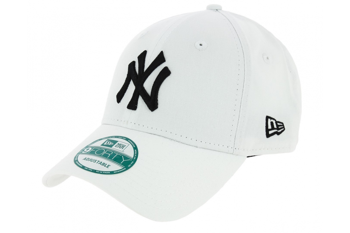 casquette baseball league basic strapback yankees of ny blanc new era. Black Bedroom Furniture Sets. Home Design Ideas
