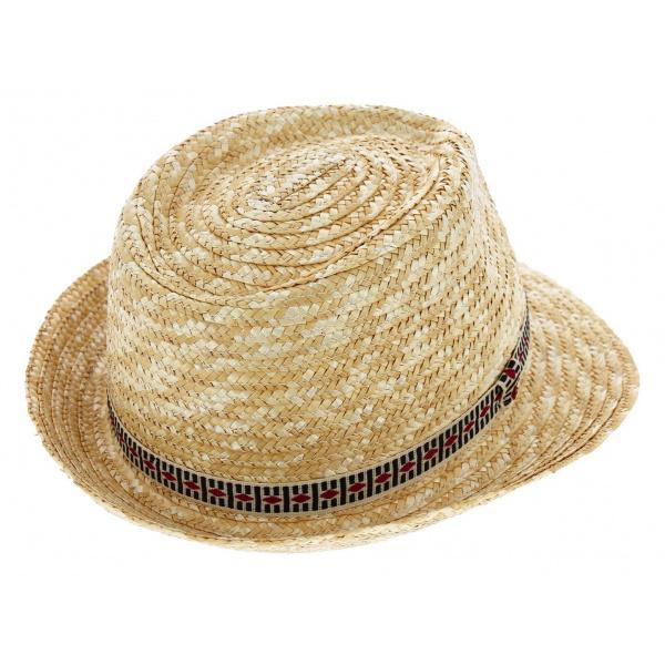 Chapeau de paille denver naturel chapeau traclet - Deco chapeau de paille ...