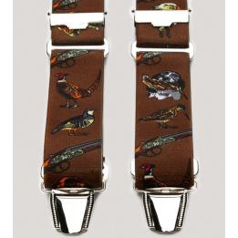 Bretelle harnais de Chasse marron