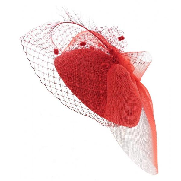 Tambourin - voilette Romy rouge