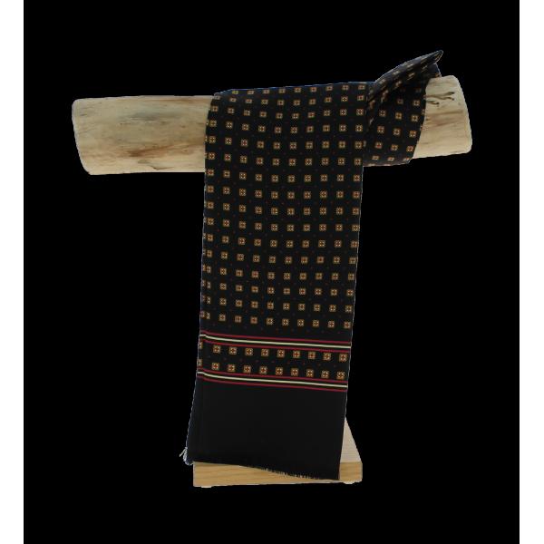 echarpe soie homme noir achat echarpe. Black Bedroom Furniture Sets. Home Design Ideas