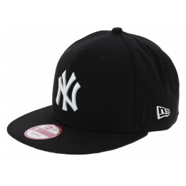 Casquette Snapback Yankees Of NY Coton Noir & Blanc - New Era