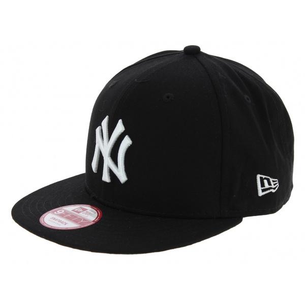 Casquette Snapback Yankees Of NY Coton Noir & Blanc - New Era