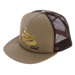 Casquette Trucker The Wilds Coton Beige & Maron - Coal