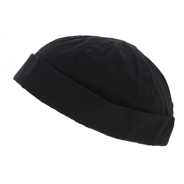 Bonnet Docker Rotterdam Imperméable Coton Noir - Traclet