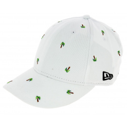 Casquette Baseball Fitted Palmtree Coton Blanc - New Era