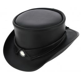 Chapeau Demi Haut de Forme Marlow Cuir Noir - Head'N Home