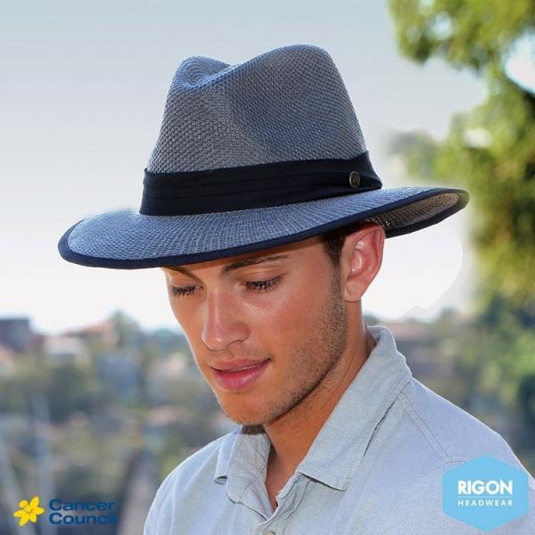 Chapeau Traveller Mandalay Gris & Noir - Rigon Headwear